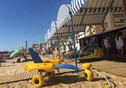 Sillas de ruedas especiales para la playa