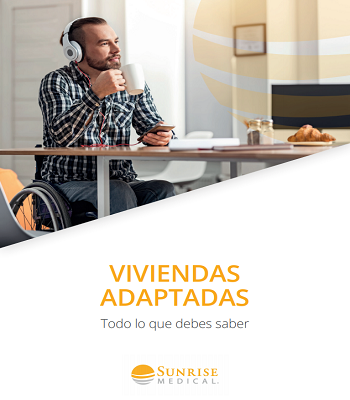 Portada de la guía: Viviendas Adaptadas. Sunrise Medical